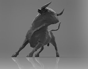 3D printable model Bull low poly triangulated