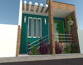 Projeto fachada Residencial 3D model