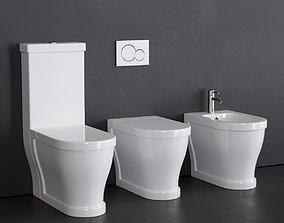 3D asset Ceramica Cielo Opera bidet and toilet