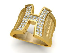 1975 Diamond H ring 3D print model