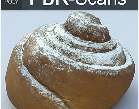Cinnamon Roll Middle Poly 3D model PBR
