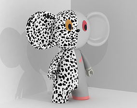 Cheburashka 3D model toy