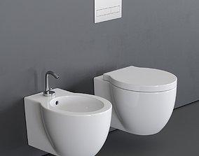 Ceramica Cielo Easy Evo Wall-Hung WC 3D asset