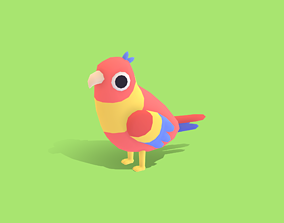 3D model Penny the Parrot - Quirky Series
