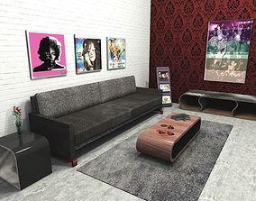 Set Modern Design Furniture 3D model