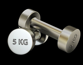 fitness Gym dumbbell 3D