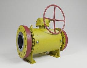 Realistic ball valve 3D model