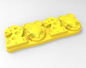 3D print model rat cookie mold
