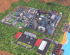 3D model Cartoon City low poly Scene