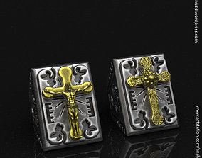 Jesus cross vol2 ring 3D printable model