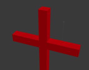 Cross 3D model animated VR / AR ready