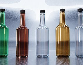 Mixer Glass Bottles 3D