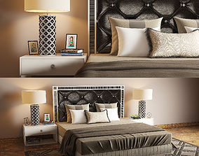 3D ART DECO BED 04