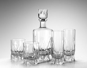 tumblers 3D model Icebreaker Decanter and Tumblers