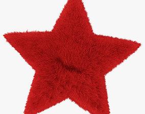 3D model Rug Star red