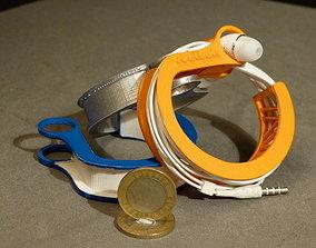 3D print model Earphone Wrapper Bracelet