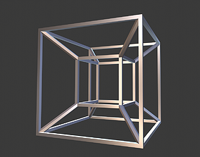 3D printable model contemporary Tesseract