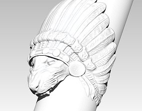 Cat Puma Tiger Lion Angry Wild Indian 3D printable model 3