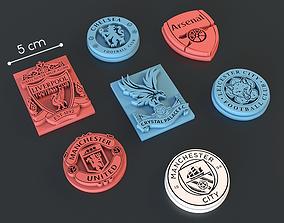 3D print model Logo of English football teams