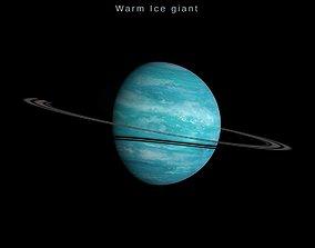 Alien planet model 4 - 16k photorealistic -warm 3D asset 1