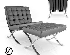 office 3D model Barcelona Chair