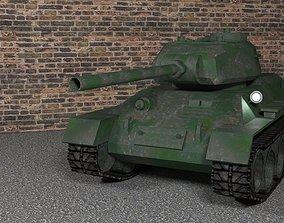 realtime Tank T-34-85 low-poly 3D model