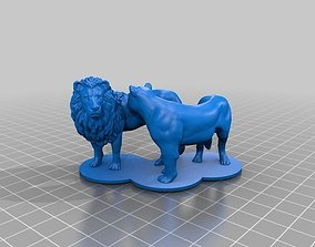 3D print model Lion Lioness