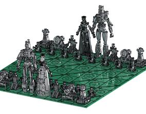 Steampunk chess 3dprint 3D printable model
