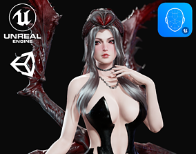 Spider Queen - Game Ready 3D asset rigged