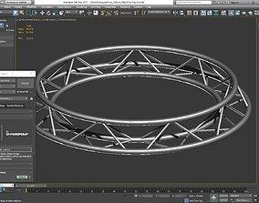 Circle Triangular Truss Full diameter 200cm 3D print model