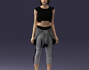 3D model Girl in sportswear 0211