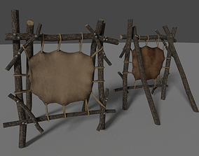 3D asset game-ready tanning rack