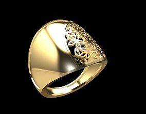 Gold ring 166 3D printable model
