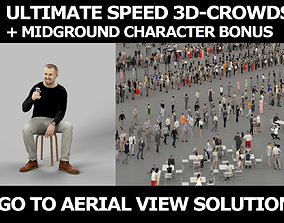 3d crowds and Master Midground Casual Man Sitting Cell 1