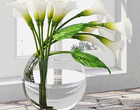 Calla lily centerpiece 3D model