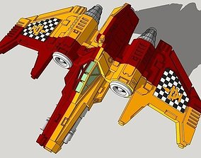 6mm Ziphon Sci-Fi Interceptor 3D print model