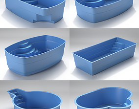 Swiming pool collection 3D