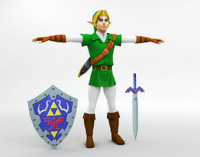 3D asset Link Character Legend of Zelda