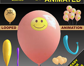 3D model Balloons Rigged and animated