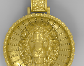 animal Lion Pendant 3D printable model