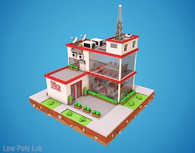 Cartoon City Office 3D asset
