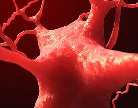 3D model Dendrite neuron nerve cell