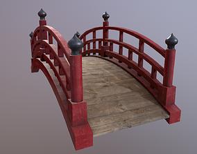 3D asset Japanese red bridge