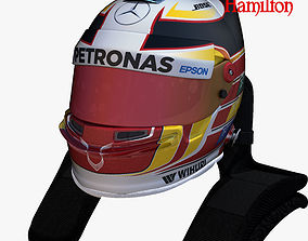 Hamilton helmet 2017 3D model