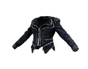 Spiky Jeans Jacket 3D