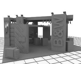 3D model B-M Exhibition Stand Design