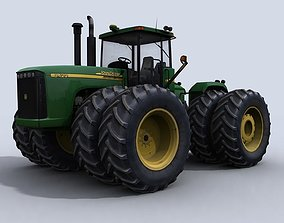 3D model 4WD Tractor 1
