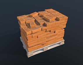Pallet with Bricks PBR 3D model