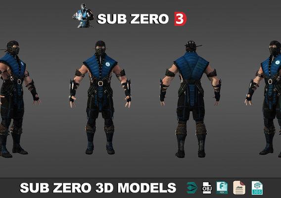 3D models low poly mortal kombat 2017-2018