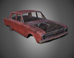 Car Wreck PBR Game Asset realtime